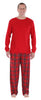 Family Matching Red Plaid Flannel Thermal Pajamas for the Family for Men -  Lounge Set