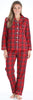 Family Matching Red Plaid Flannel Thermal Pajamas for the Family for Women - Lounger