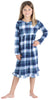 Christmas Family Matching Blue Plaid Flannel Pajamas for The Family