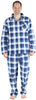Christmas Family Matching Blue Plaid Flannel Pajamas for The Family Men - Lounger