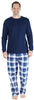 Christmas Family Matching Blue Plaid Flannel Pajamas for The Family Men - Lounge Set