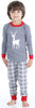 Family Matching Knit Grey Plaid Pajama for kids