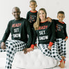 Family Matching Black & White Plaid Pajama Sets