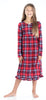 Holiday Family Matching Fleece Plaid Pajama for Kids - Nightgown