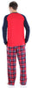 Christmas Family Matching Blue and Red Plaid Fleece Pajamas