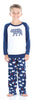 Christmas Family Matching Blue Winter Snow Yeti Fleece Pajama Set