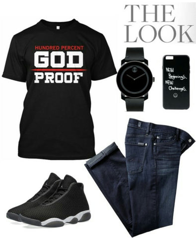 Black men God protection Christian tee