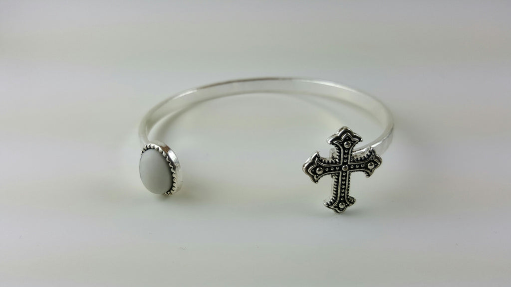 Open Cross Cuff, Bracelet, Spiritual Mic, Spiritual Mic Fashionable christian apparel tees