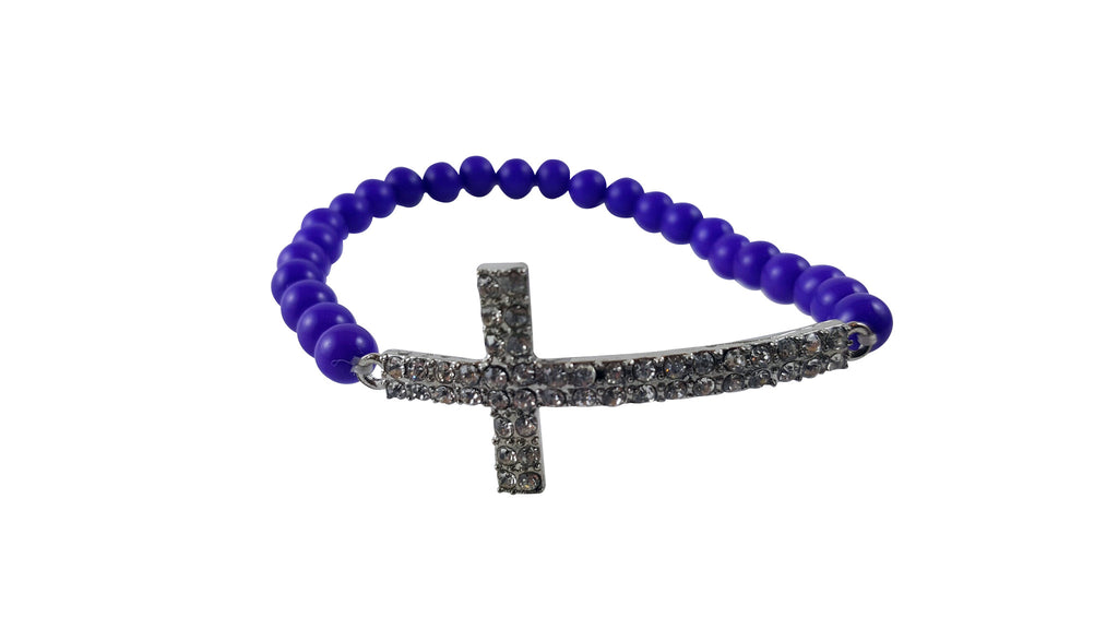 Cross & Beads Bracelet, Bracelet, Spiritual Mic, Spiritual Mic Fashionable christian apparel tees