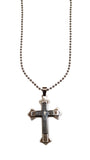 Double Cross Necklace, , Spiritual Mic, Spiritual Mic Fashionable christian apparel tees