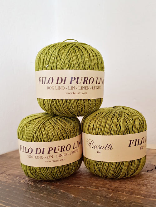 LINEN YARN BALL - green