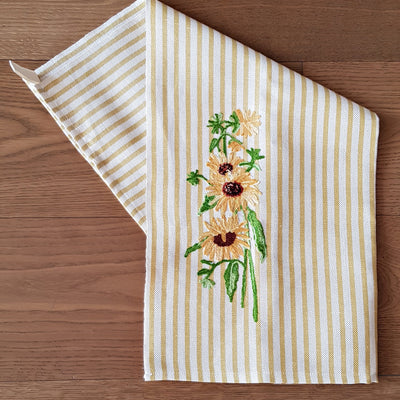 SUNFLOWERS - Kitchen Towel Melograno