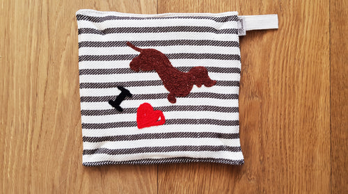 POT HOLDER - SEA HORSE EMBROIDERY