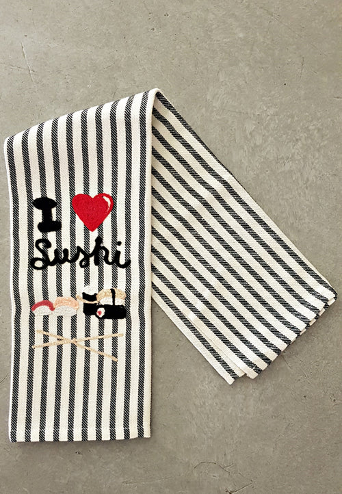 I LOVE SUSHI - Kitchen Towel Melograno
