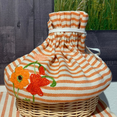 BREAD BASKET - Orange Flowers