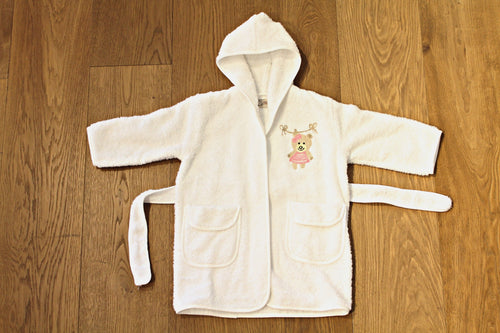 Bathrobe embroidered 3-5 years