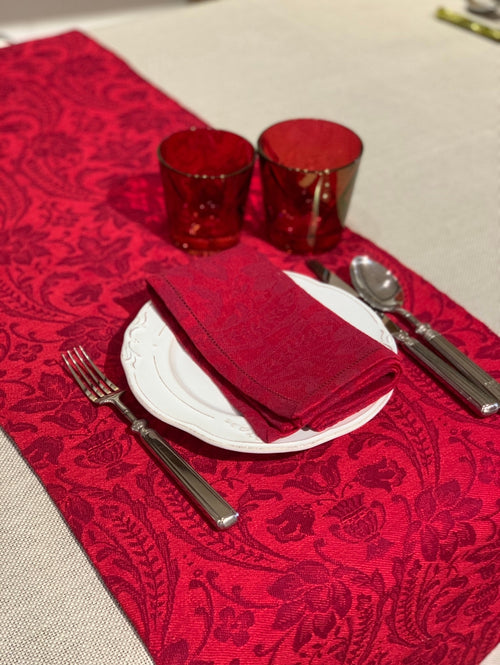 DONNA DI COPPE BICOLORE CHRISTMAS RED / LONG PLACEMAT