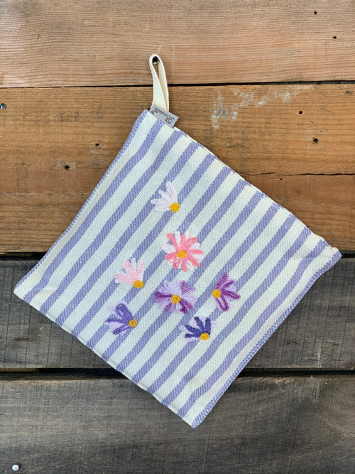 SPRING FLOWERS - POT HOLDER