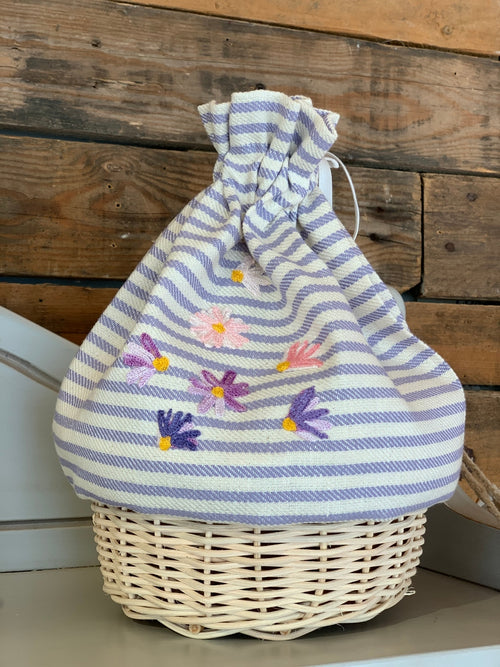 BREAD BASKET - SPRING FLOWERS
