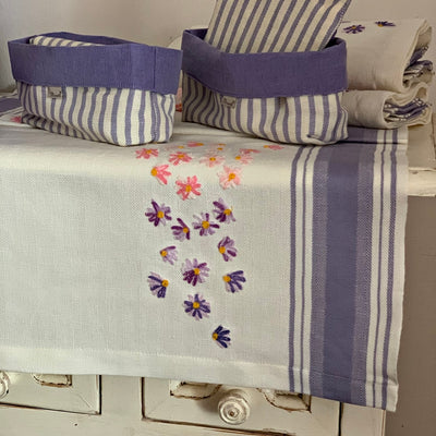 SPRING FLOWERS - EMBROIDERED TABLERUNNER