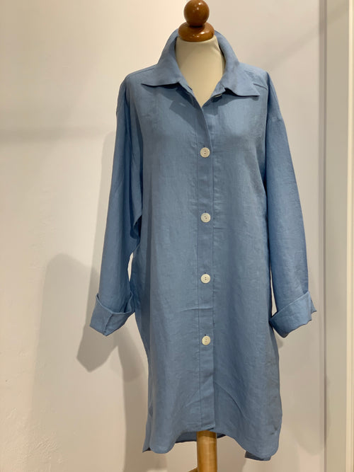 PREWASHED LINEN NIGHTY