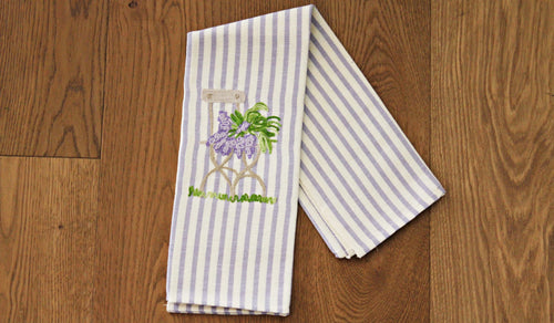 Lavender chair - Kitchen towel
