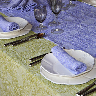 Burraco, Sage green - Tablecloth