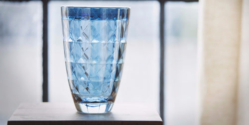 Blue Diamante Vase