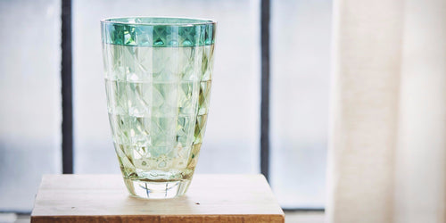 Green Diamante Vase