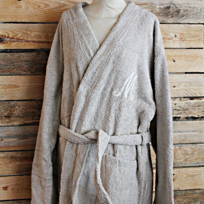 Custom Bathrobe - Taupe