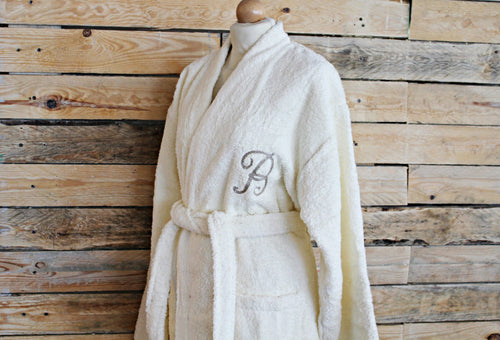 Custom Bathrobe - Cream