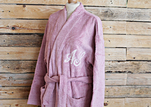 Custom Bathrobe - Antique pink