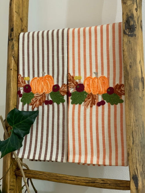 PUMPKIN - Embroidered Kitchen Towel