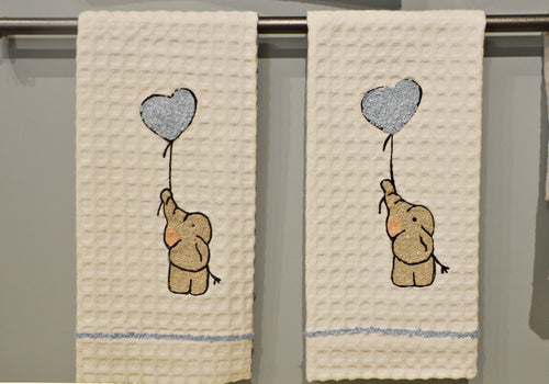 ELEPHANT WITH HEART - GUEST TOWEL