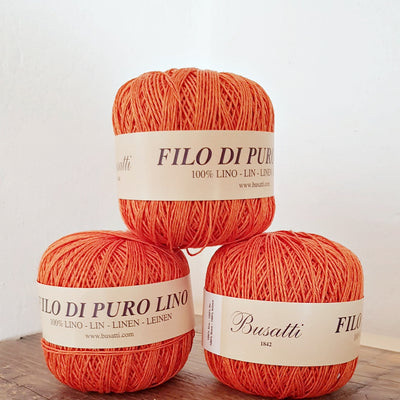 LINEN YARN BALL - orange