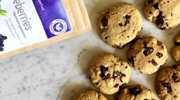 Salted Blueberry Cacao Cookies