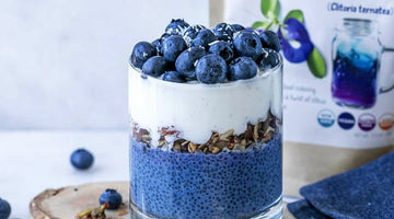 Blueberry Butterfly Pea Flower Parfait