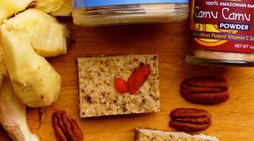 Spicy Ginger-Camu Camu Energy Bars