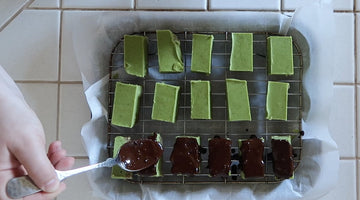 Vanilla Bean Matcha Chocolate Bars