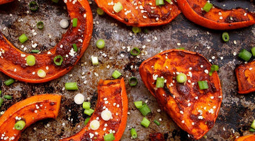Gochujang Roasted Winter Squash with Hemp Seeds