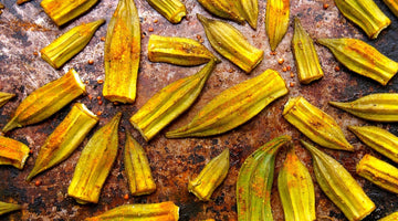 Golden Turmeric Roasted Okra