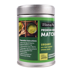 Premium Grade Organic Matcha Green Tea Powder (3.5 oz)