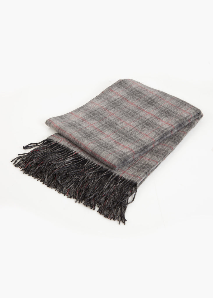 Pure Cashmere Double Faced Plaid Blanket