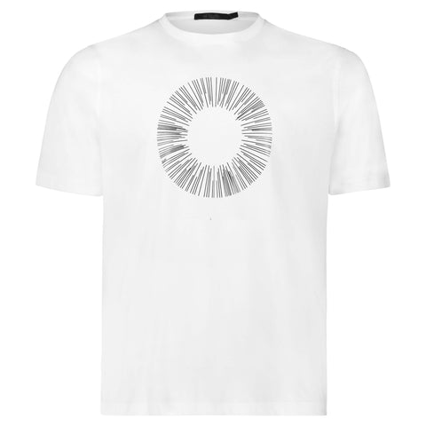 CIRCLE By Raffi<br>Pure Aqua Cotton Crew Tee