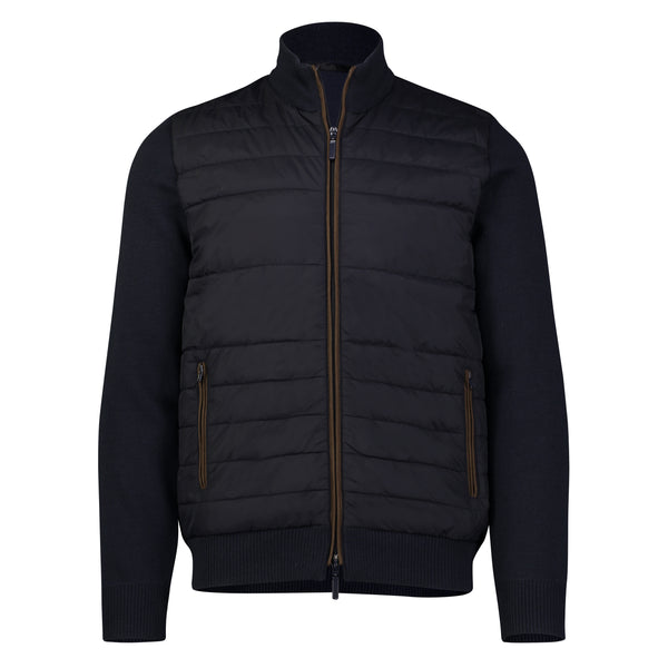 Men's Nylon Quilted Front Zip Jacket