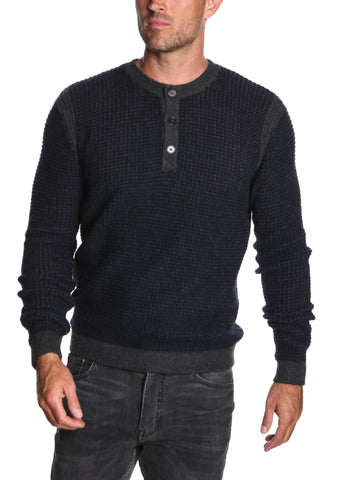 Pure Cashmere Waffle Henley