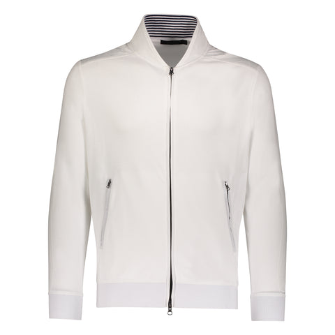Aqua Cotton Nylon Trim Jacket