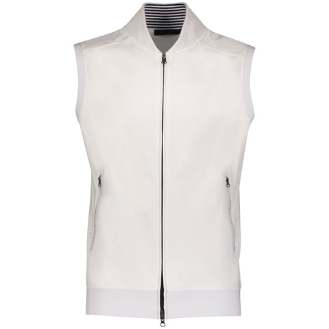 Aqua Cotton Nylon Trim Vest