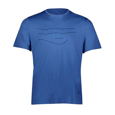 ABSTRACT LINES By Raffi<br>Pure Aqua Cotton Crew Tee
