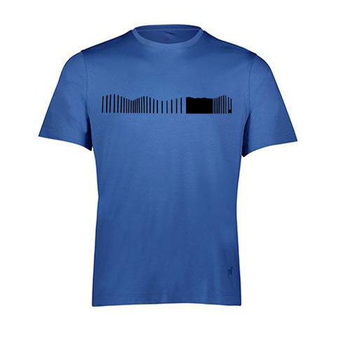 VERTICAL WAVES By Raffi<br>Pure Aqua Cotton Crew Tee